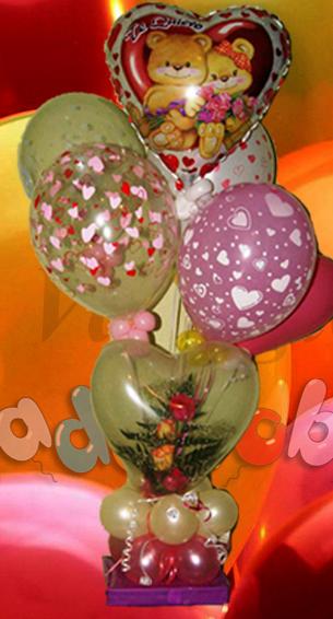 Regalos para san valent n decoraci n con globos regalos y desayunos a domicilio suelta de - Decoracion para regalos ...