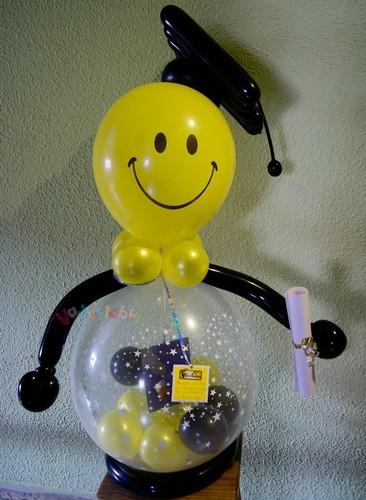 Regalos englobados y con globos decoraci n con globos for Decoracion de grado
